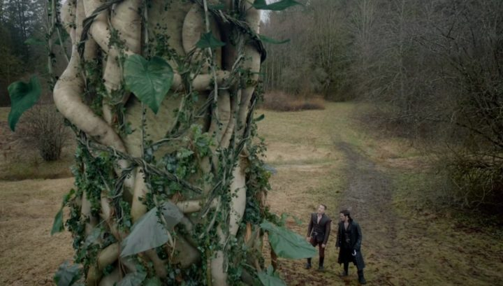 Once Upon a Time 6x21 6x22 The Final Battle - David and Hook about to climb the beanstalk