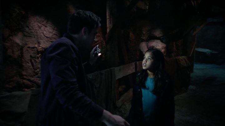 Once Upon a Time 7x03 The Garden of Forking Paths - Henry and Lucy underground the community gardens