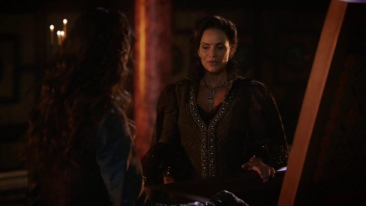 Once Upon a Time 7x03 The Garden of Forking Paths - Lady Tremaine talking to Cinderella over Anastasia's coffin