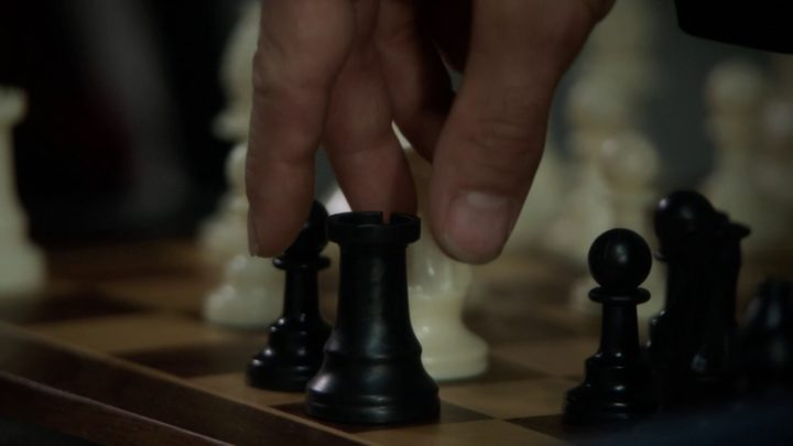 Once Upon a Time 7x04 Beauty - Rogers picking up a chess piece