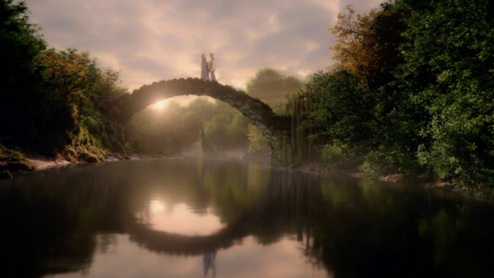 Once Upon a Time 7x04 Beauty - Rumple and Belle at the bridge