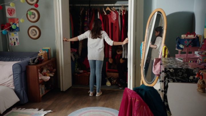 Once Upon a Time 7x06 Wake Up Call - Lucy looking for Henry's story book in the closet