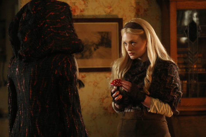 Once Upon a Time podcast 7x09 One Little Tear - Gothel giving Rapunzel mushroom from Wonderland