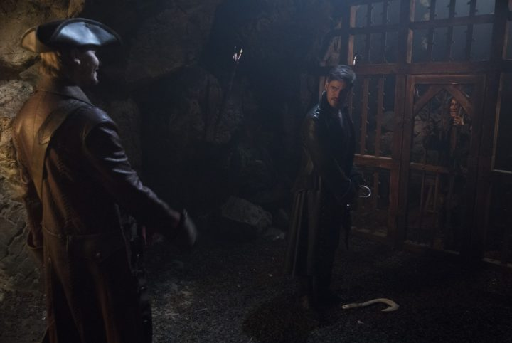 Once Upon a Time 7x13 Knightfall - Captain Ahab and Nook at Rumplestiltskin's jail cell