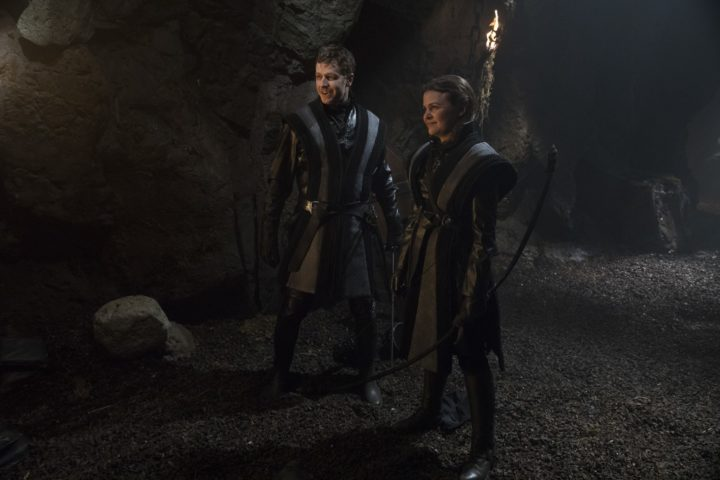 Once Upon a Time 7x22 Leaving Storybrooke - Snow White and Prince Charming disguised as Black Knights